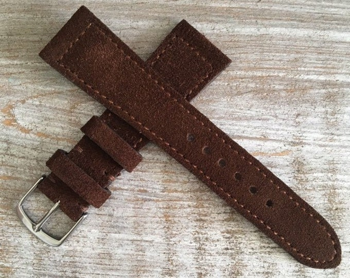 Classic Italian Suede watch strap - Brown