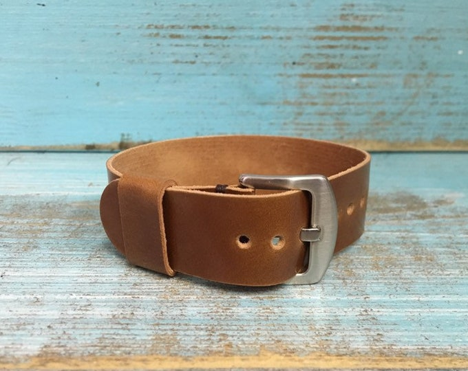 20mm Whiskey Italian Shell Cordovan 1 piece strap
