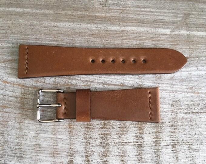 20/16mm Bourbon Horween Shell Cordovan watch band