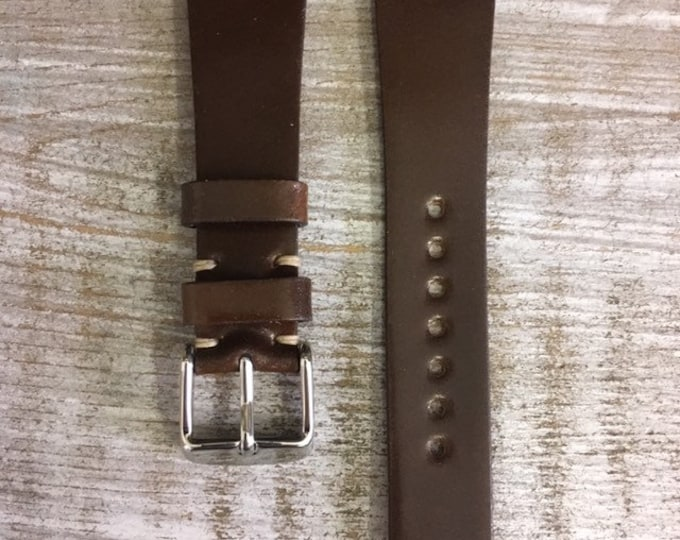 20/16mm Armagnac Horween Shell Cordovan watch band