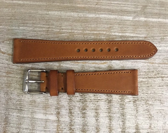 20/16mm Classic Italian Calf watch band - Honey