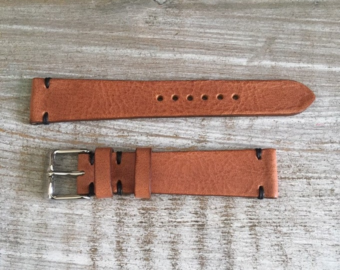 19/16mm Classic Italian Calf watch band - Tan