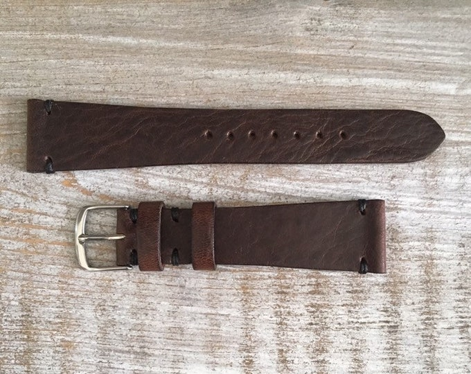 20/16mm Classic Italian Calf watch band - Oak Brown