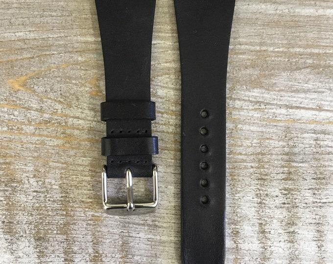 22/16mm Classic Italian Calf watch band - Black