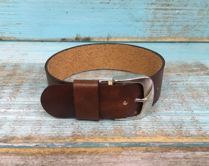 Custom Dark Brown Italian Calf 1 piece strap