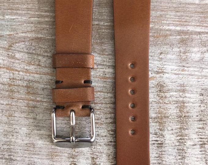 19/16mm Bourbon Horween Shell Cordovan watch band