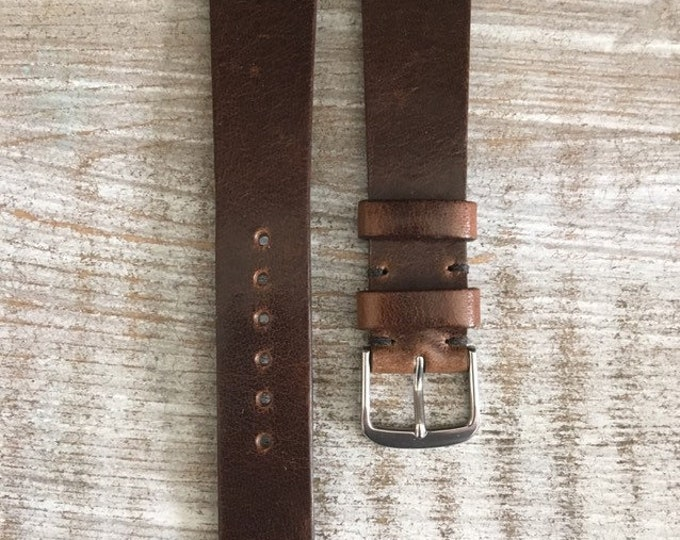19/16mm Classic Italian Calf watch band - Brown Chestnut
