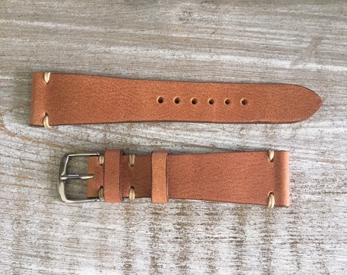 20/16mm Classic Italian Calf watch band - Tan