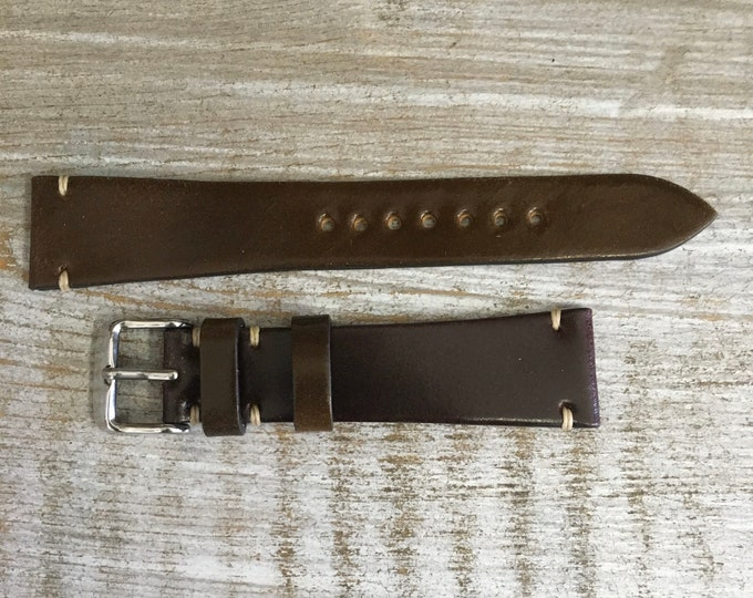20/16mm Two Tone Horween Shell Cordovan watch band