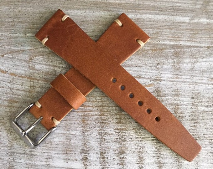 VTG Style Italian Calf watch band - Tan