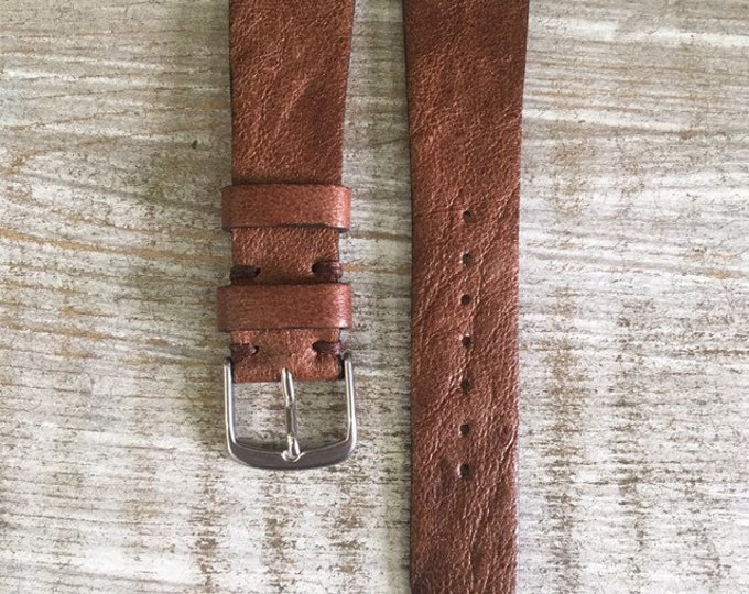 20/16mm Vintage Leather watch strap - A2