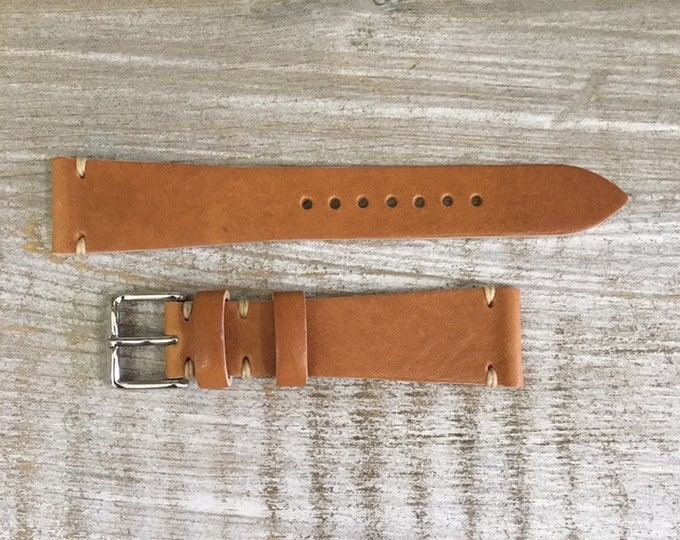 20/16mm Classic Italian Calf watch band - Light Tan