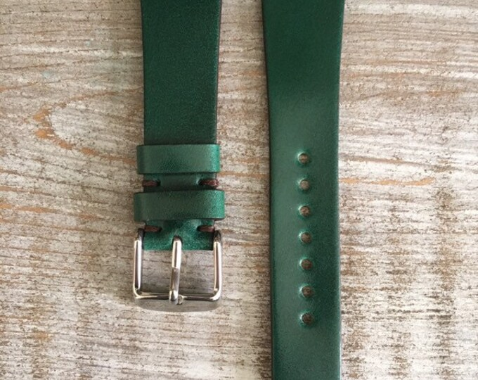20/16mm Green Italian Shell Cordovan watch band