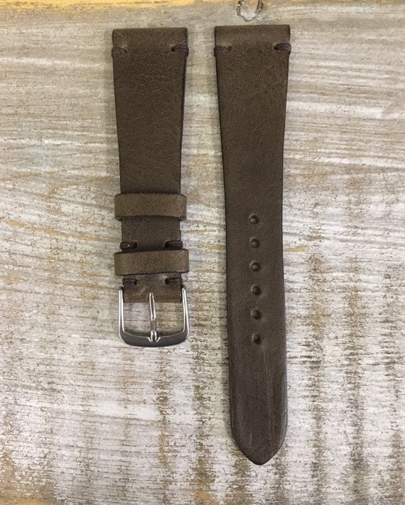 20/16mm Classic Italian Calf watch band - Antique Olive