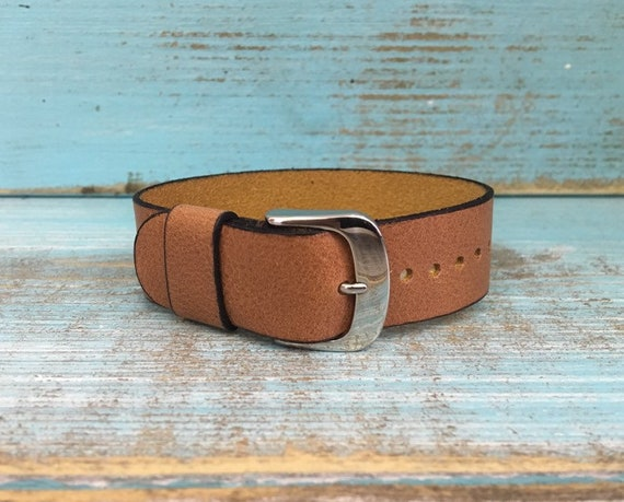 20mm Tan Italian Calf 1 piece strap