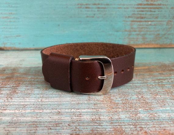 20mm Brown Horween Chromexcel 1 piece strap