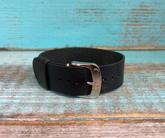 20mm Italian Calf 1 piece strap Black