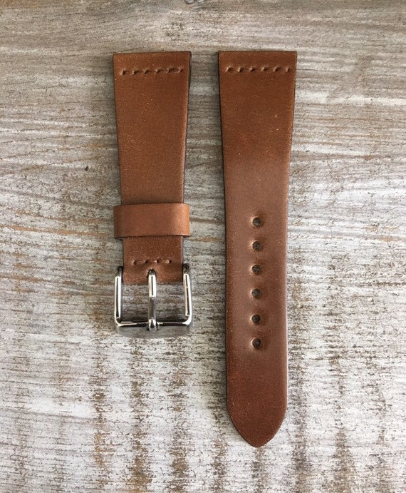 20/16mm Bourbon Horween Shell Cordovan watch band