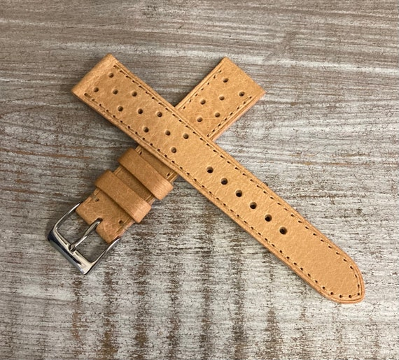 18mm Pigskin Rally watch band - Natural