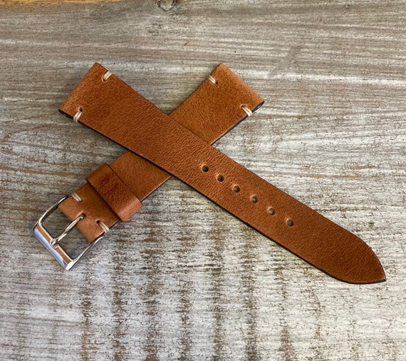 20mm English Tan Horween Derby watch strap/band