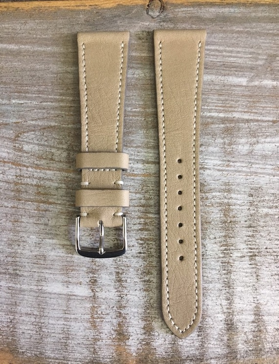 20/16mm Classic Italian Calfskin watch band - Taupe