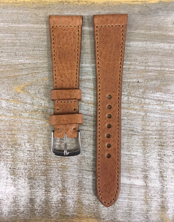 20/16mm Classic Italian Calf watch band - Dark Tan
