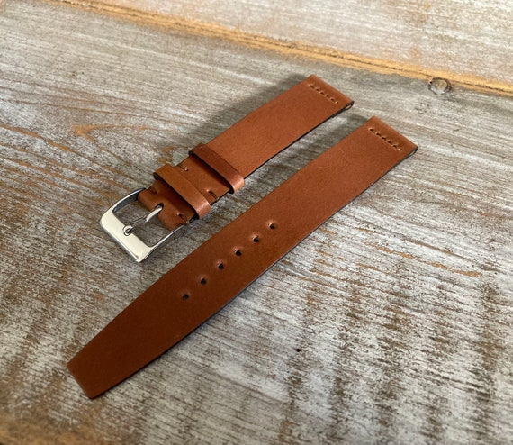 16mm Natural Horween Shell Cordovan watch band