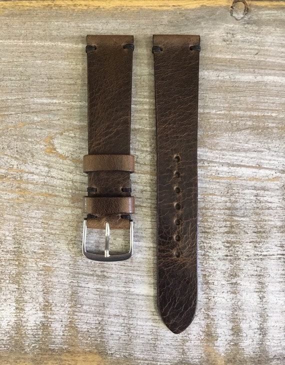 18/16mm Classic Italian Calf watch band - Dark brown