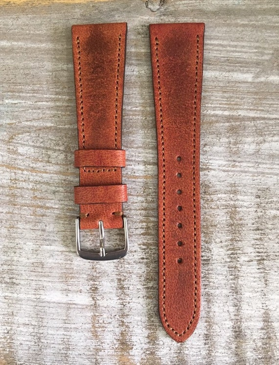 Classic Leather watch strap - Vintage Sheep