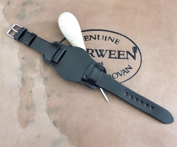 Horween Shell Cordovan BUND watch strap