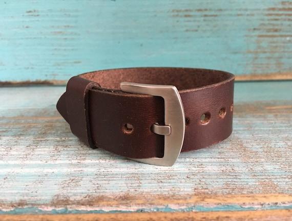 Brown Horween Chromexcel One piece strap