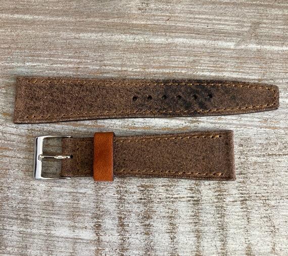 Black Reverse Horween Chromexcel watch strap/band