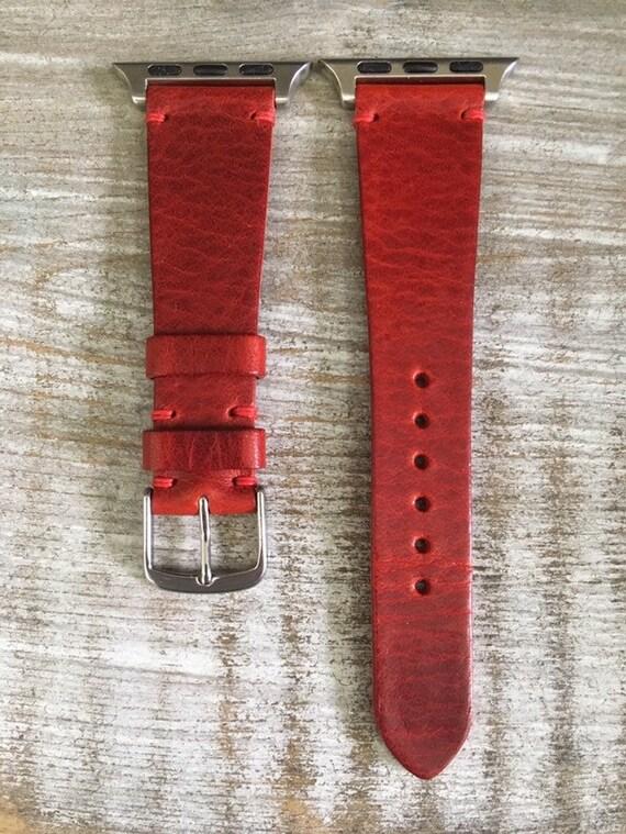 Italian Calf watch band for Apple watch - Cherry
