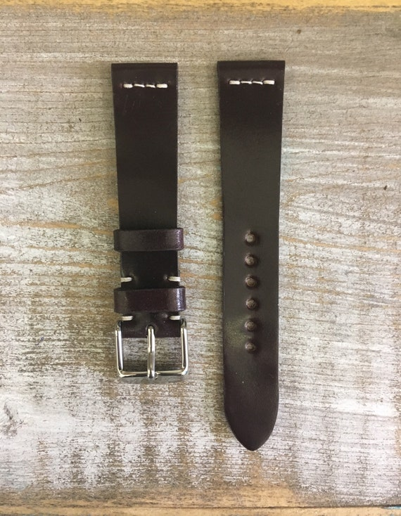 18/16mm Color #8 Horween Shell Cordovan watch band