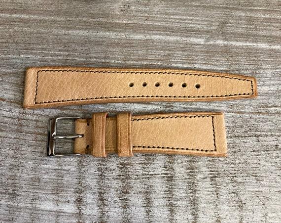 20mm Pigskin watch band - Natural