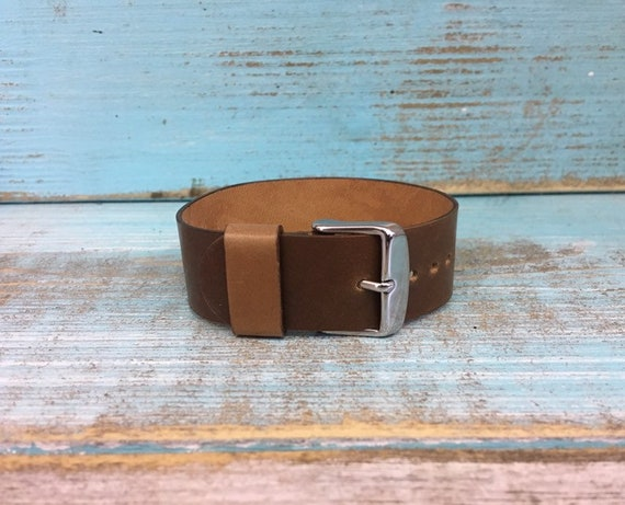 20mm Whiskey Horween Shell Cordovan 1 piece strap XS sizing