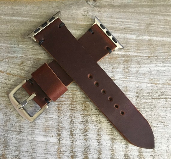 Color #8 Horween Chromexcel watch strap/band for Apple Watch