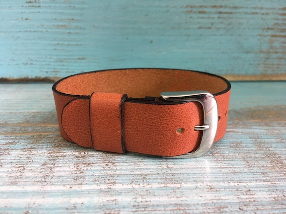 20mm Dark Tan Italian Calf 1 piece strap