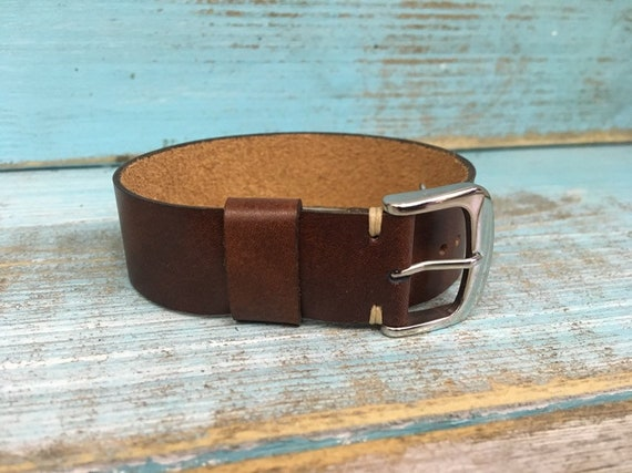 20mm Dark Brown Italian Calf 1 piece strap