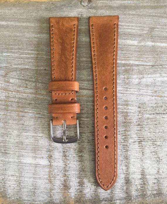 20/16mm Classic Italian Calf watch band - Light Brown