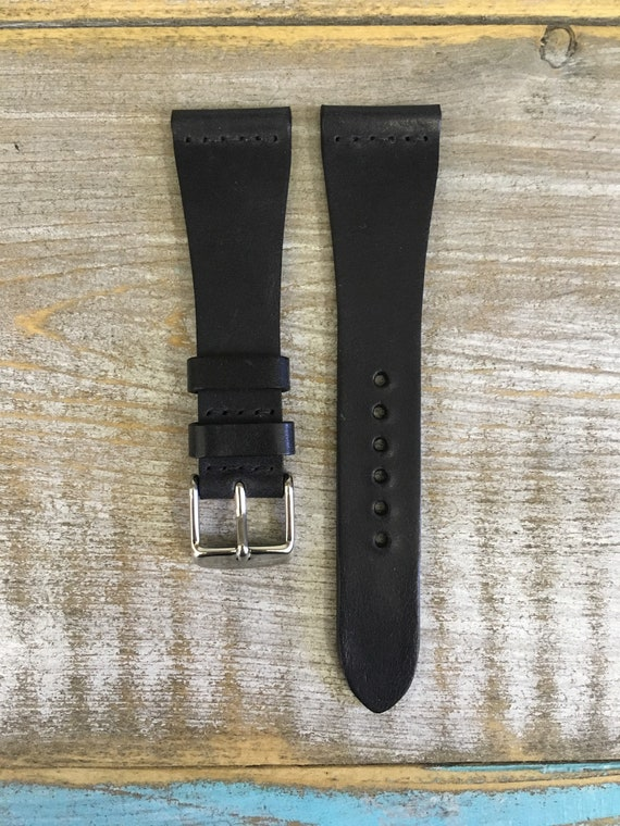 22/16mm Classic Italian Calf watch band - Black