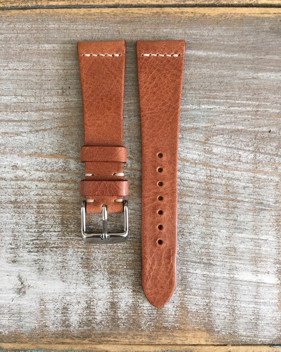 20/16mm Classic Italian Calf watch band - Dark Tan