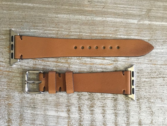 Natural Horween Shell Cordovan watch band for Apple watch