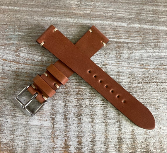 18mm Natural Horween Shell Cordovan watch band