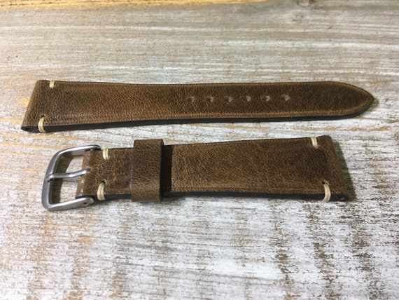 20/16mm Classic Italian Calf watch band - Antique Brown
