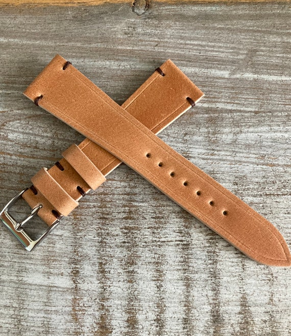 20mm Natural Italian Shell Cordovan watch band