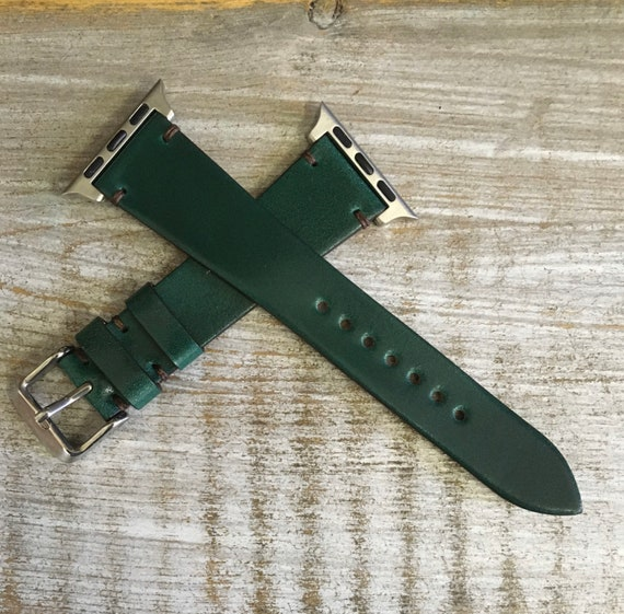 Green Italian Shell Cordovan watch band