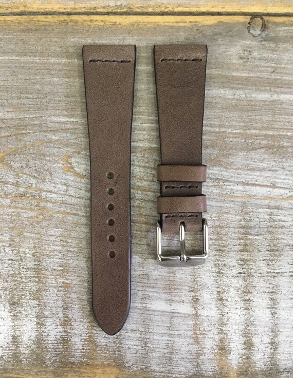 20/16mm Classic Italian Calf watch band - Antique Grey