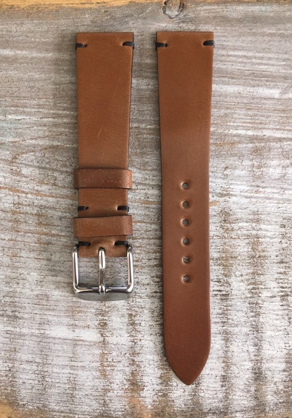 19/16mm Bourbon Horween Shell Cordovan watch band