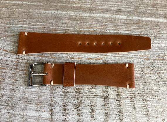 19mm Whiskey Italian Shell Cordovan watch band